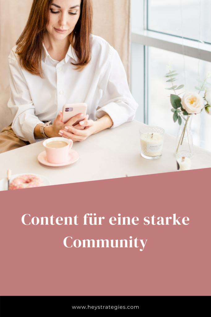 Content für eine starke Community
